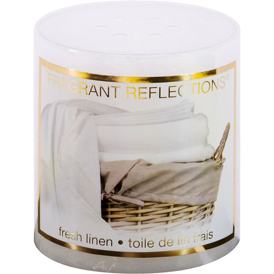 Fragrant Reflection Pillar Candle - Fresh Linen - 3 inch