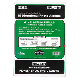 Pioneer Bi-Directional 30 Photo 4x6 Refill Pages