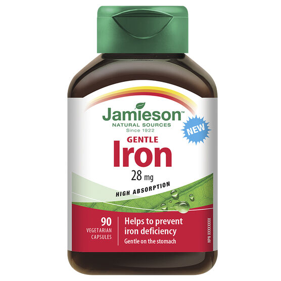 Jamieson Gentle Iron 28 mg - 90's