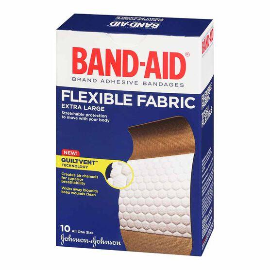 Johnson & Johnson Band-Aid Flexible Fabric - Extra Large - 10's
