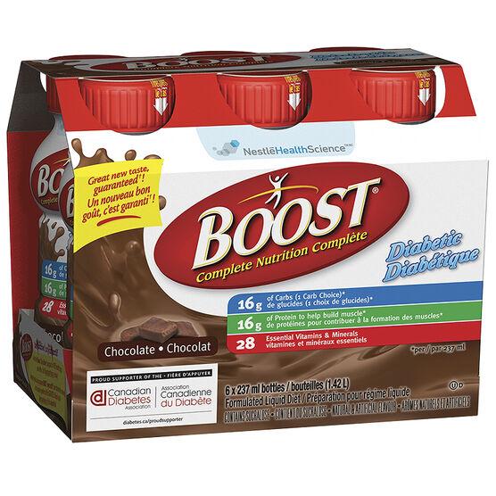 Boost Diabetic Drink - Chocolate - 6 x 237ml