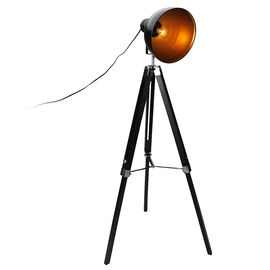 London Drugs Tripod Floor Lamp - Gold