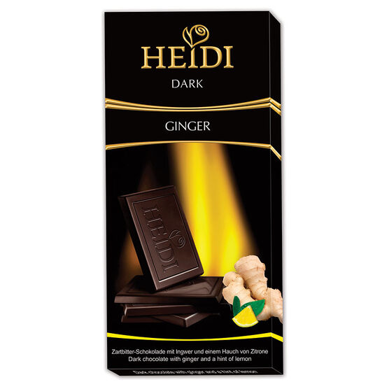 Heidi Dark Chocolate - Lemon & Ginger - 80g