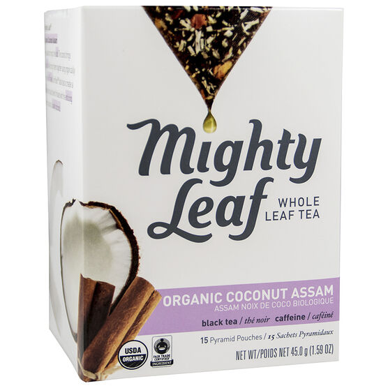 Mighty Leaf Whole Leaf Tea - Organic Coconut Assam - 15's
