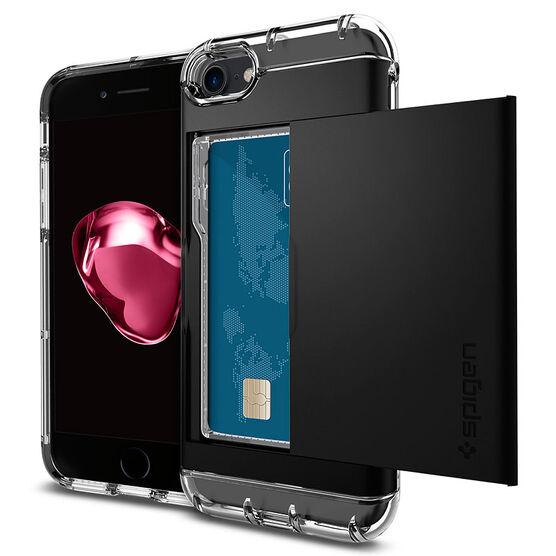 Spigen Crystal Wallet Case for iPhone 7 - Black - SGP042CS20981