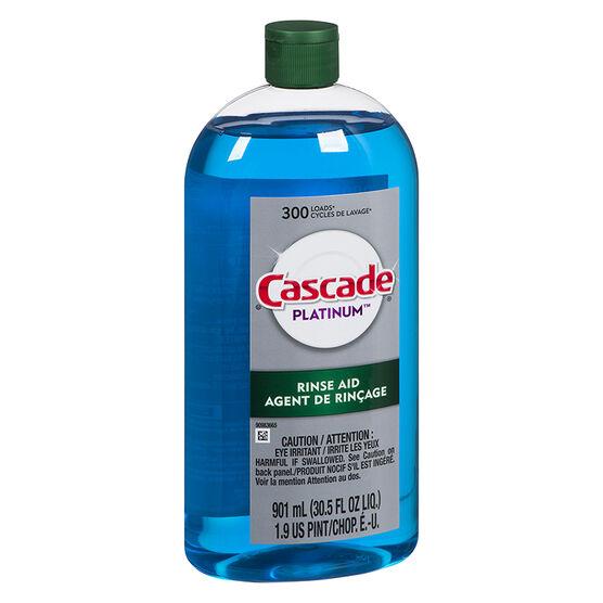 Cascade Platinum Rinse Aid - 300 Loads - 901ml