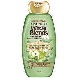 Garnier Whole Blends Refreshing 2 in 1 - Green Apple & Green Tea - 370ml