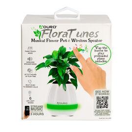 FloraTunes Flower Pot Bluetooth Speaker - White - ASFT1008