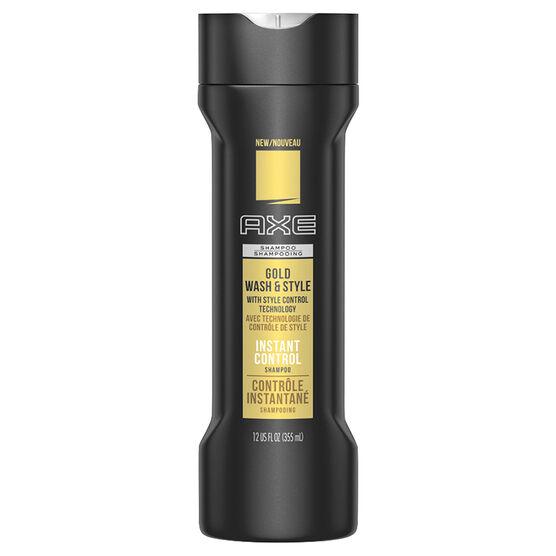 Axe Gold Wash & Style Shampoo - 355ml