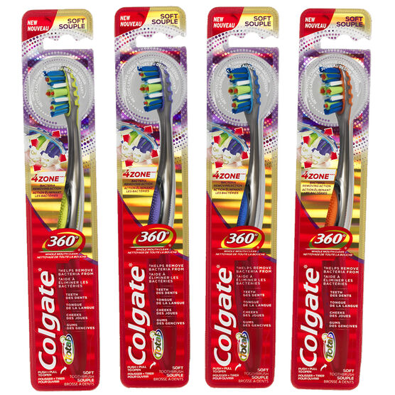 Colgate Total 360° 4Zone Tooth Brush Assorted - Soft