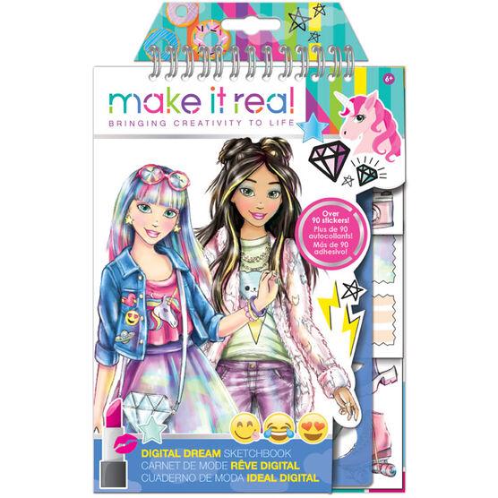 Make It Real Fashion Design Sketchbook - Digital Dream