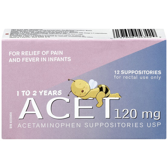 Acet 120mg Child Suppositories - 12's