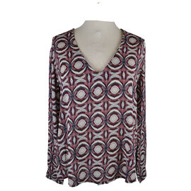Lava Rollup Sleeve Printed Blouse