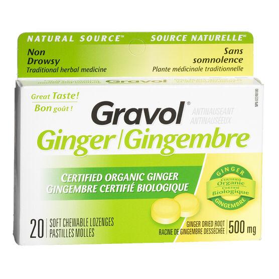 Gravol Chewable Lozenge - Ginger - 20's