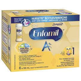 Enfamil A+ Ready to Feed Infant Formula - Nursette Bottles - 6 x 59ml