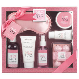 Tea Spa Beauty Stress Relief Bath Gift Set - 7 piece