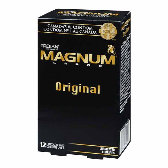 Trojan Magnum Lubricated Condoms - 12's
