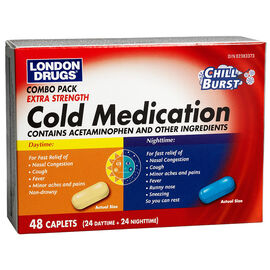London Drugs Extra Strength Cold Medication Combo - 48 capsules