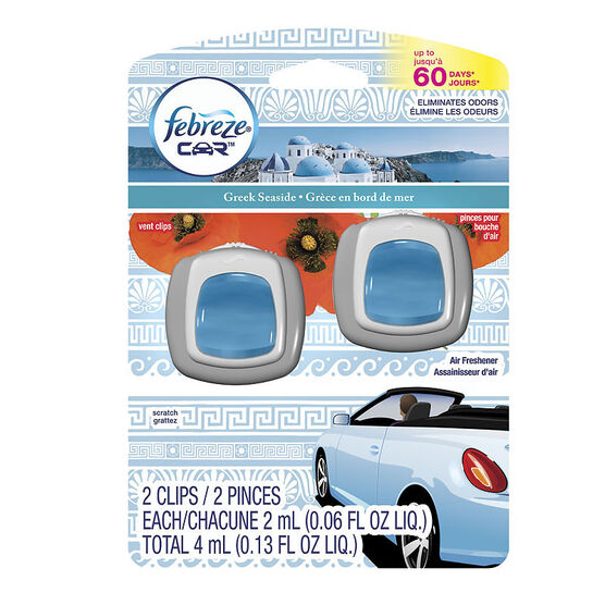 Febreze Auto Air Freshener - Greek Seaside - 2 pack