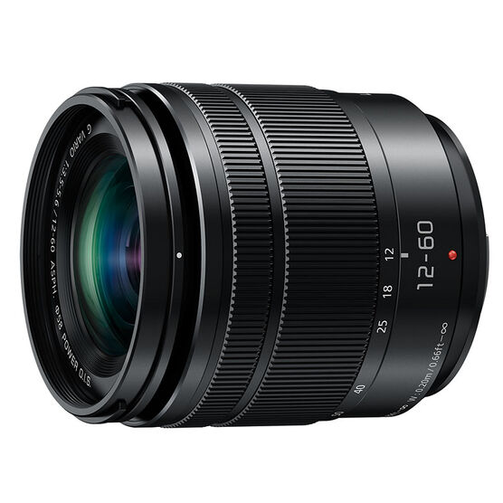 Panasonic LUMIX  12-60mm F3.5-5.6 Lens - Black - HFS12060