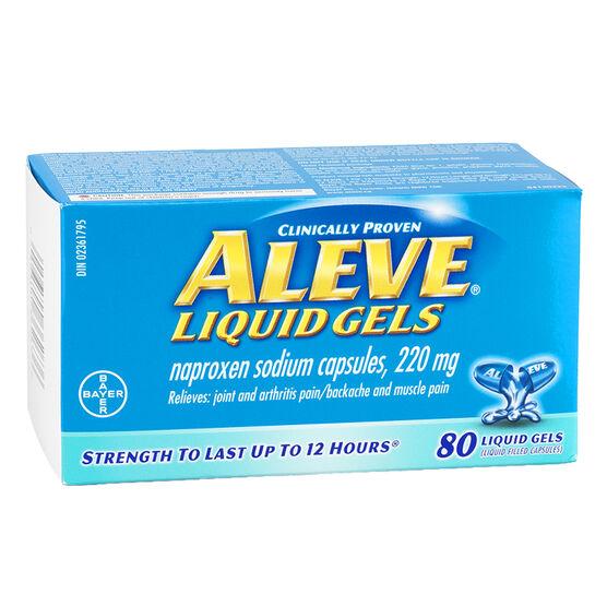 Aleve 220mg Liquid Gels - 80's