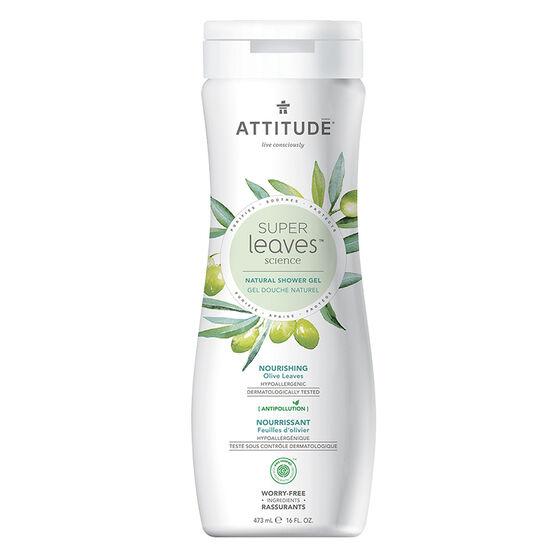 Attitude Super Leaves Science Natural Shower Gel - Nourishing Olive Leaves - 473ml