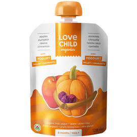 Love Child Apples Pumpkin Raisins Cinnamon with Yogurt - 128ml