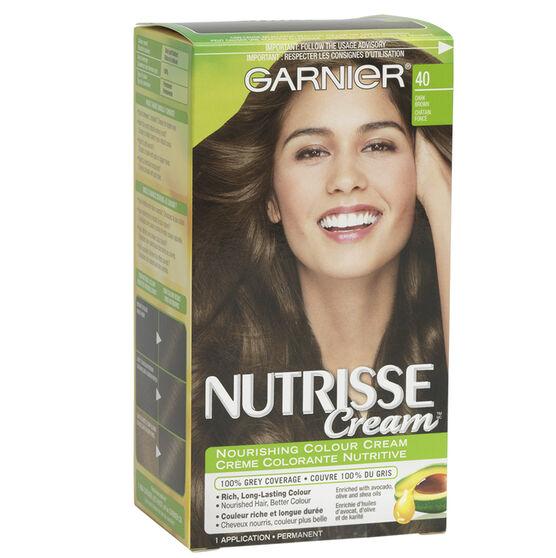 Garnier Nutrisse Cream Permanent Hair Colour - 40 Dark ...- photo #26