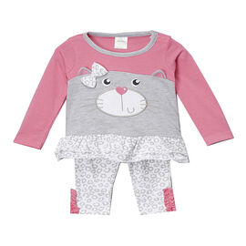 Baby Mode Dog and Cat Jersey Legging Set - 0-9 months - Assorted