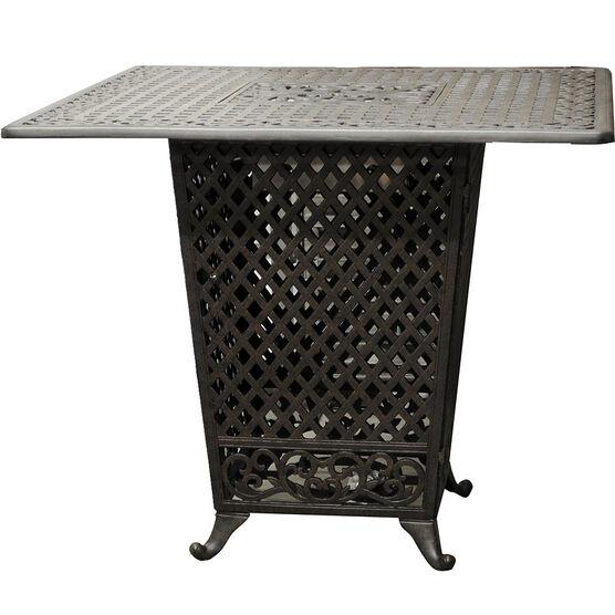 Seymour Cast Aluminum Propane Fire Table - Black