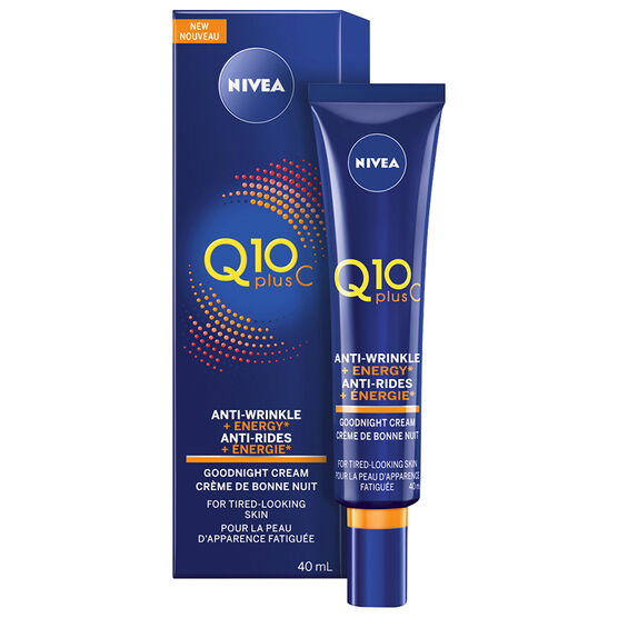 Nivea Q10 Plus C Anti-Wrinkle + Energy Goodnight Cream - 40ml