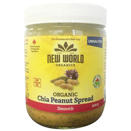 New World Chia Smooth Peanut Butter - Unsalted - 500g