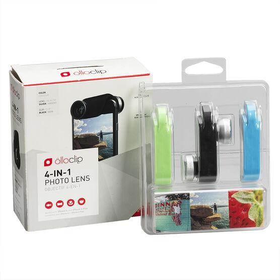 Olloclip 4-in-1 Lens for iPhone 6 & 6 Plus - Black Silver - OCEUIPH6FW2MSB