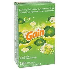 Gain Fabric Softener Sheets - Original - 120's