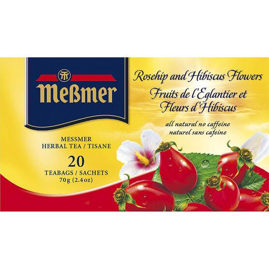 Messmer Tea -  Rosehip & Hibiscus - 20's
