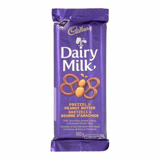 Cadbury Dairy Milk Chocolate Bar - Pretzel & Peanut Butter - 100g
