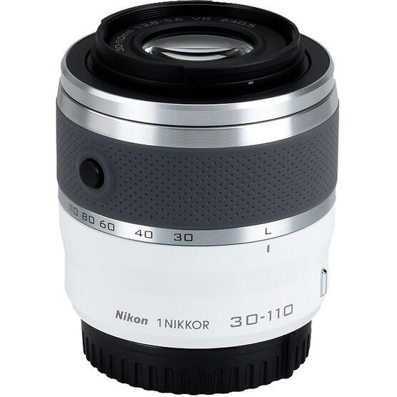 Nikon 1 VR 30-110mm f/3.8-5.6 - White - 3319 - Open Box Display Model