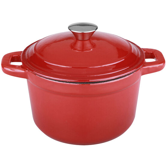 Neo Cast Iron Round Covered Casserole - Red - 3qt