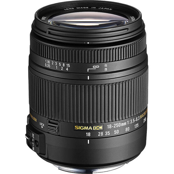 Sigma 18-250mm F/3.5-6.3 DC Macro OS II  Lens for Canon - OS18250MHC