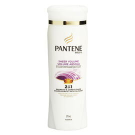 Pantene Pro-V Sheer Volume 2in1 Shampoo & Conditioner - 375ml