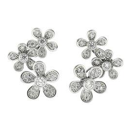 Puccini Cubic Zirconia Triple Flower Earrings