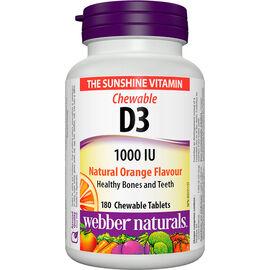 Webber Naturals Vitamin D3 Chewables - 1000IU - 180's
