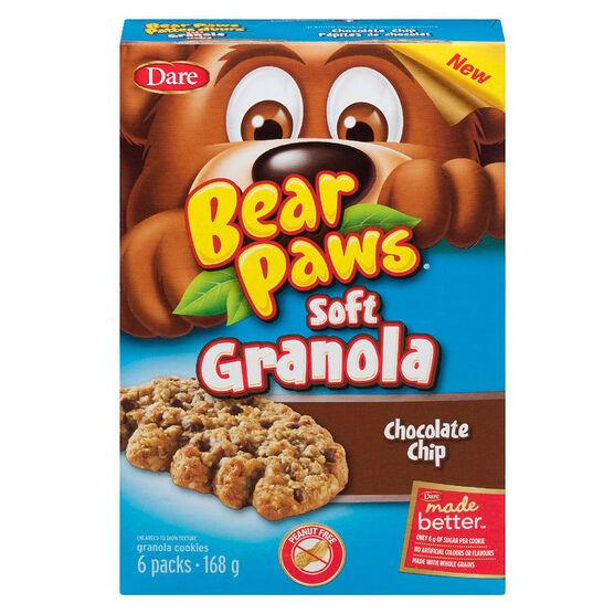 Dare Bear Paws Soft Granola - Chocolate Chip - 168g
