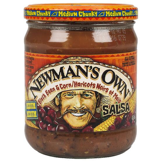 Newman's Own Salsa - Black Bean & Corn - 415ml
