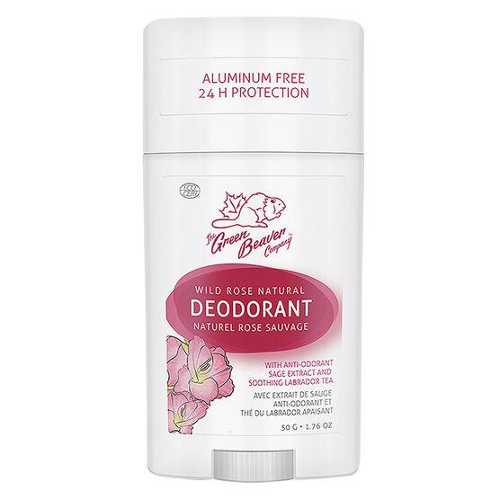 Green Beaver Natural Deodorant - Wild Rose - 50g