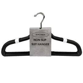 London Drugs Non-Slip Hanger - Black - 10's