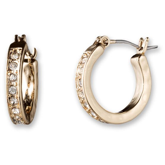 Lonna Lilly Click it Pendant Hoop Earrings - Gold