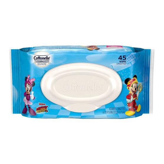 Cottonelle Disney Wipes Refills - 45's