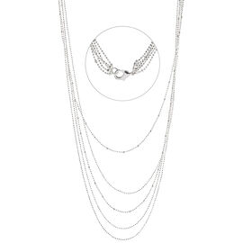 Silver Linings Multi Chain Necklace - Silver Tone
