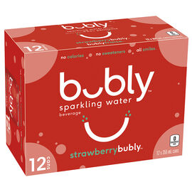 Bubly Sparkling Water - Strawberry - 12 x 355ml